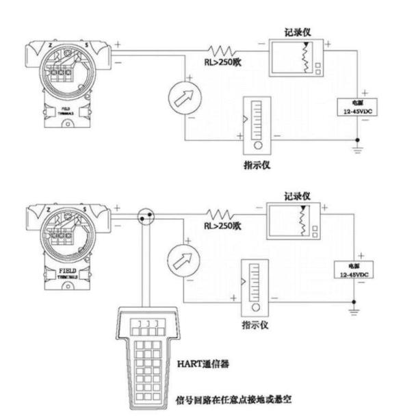 单法兰压力变送器安装结构图
